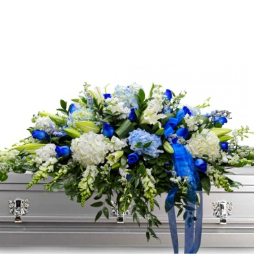 Blue Without You Casket Spray