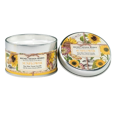 Sunflower Travel Candle
