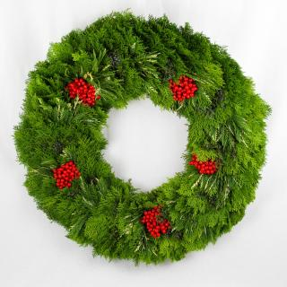 Joyful Juniper & Red Berry Oversized Wreath