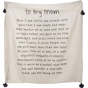 Throw Blanket - To My Mom